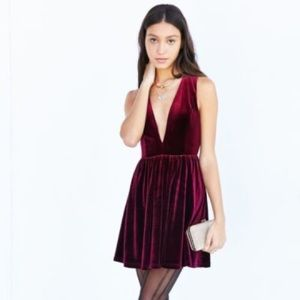 Lucca Couture Plunge Velvet Dress